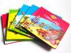 Libro de la impresión, libro de la tarjeta de los niños de la impresión, libro de Hardcover de la impresión