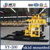 precio usado portable de la perforadora de la perforación del receptor de papel de agua Xy-200 de los 200m para la venta