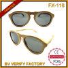 Óculos de sol de bambu puramente Handmade superiores da alta qualidade da forma Fx-118