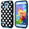 Alto Impacto cubierta colorida híbrido Polka Dot Case para Samsung Galaxy S5