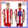 男子フットボールの速い乾燥したトレーニングのフットボールのサッカーのワイシャツ