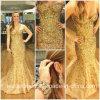 El partido cristalino del baile de fin de curso viste los vestidos de noche de la celebridad de los granos del oro L1030