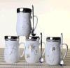 2017 tazze di ceramica della tazza del caffè caldo di vendita, tazze di ceramica personalizzate promozionali di marchio
