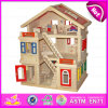2015 счастливое Family Doll House для Kids, DIY Toy Wooden Doll House Toy для Children, Best Seller Handmade Wooden Doll House W06A103