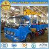 Dongfeng 4X2 4 tonnes de camion de camion de chargement a monté avec la grue à vendre