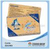 Rasguño del PVC de la tarjeta de visita Telecom pagada por adelantado de la tarjeta del teléfono