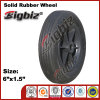 Harter Gummi-Fußrollen-Rad Qingdao-6X1.5 für Verkauf