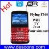 Диапазон квада мобильного телефона WiFi TV летания с Java и 4 карточками SIM (F360)