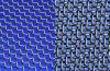 装飾的な網(青いカラーと)