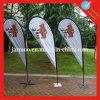 Знамя Teardrop полиэфира напольный рекламировать торговой выставки индикации