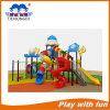Cour de jeu extérieure d'amusement de pirate de plastique de matériel avec la glissière Txd16-Hod013