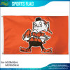 Brownie de Cleveland Browns bandeira de x5 do futebol 3 do vintage NFL do duende '