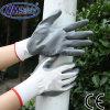 Nitriles gris de Nmsafety enduisant le gant sûr de main