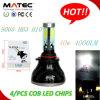 O diodo emissor de luz superior lasca o bulbo 9007 do farol do diodo emissor de luz de 360 graus