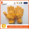Хлопок/связанные полиэфиром многоточия PVC перчаток (DKP202)
