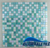 piscina Mosaic Tile (BGC011) di 15X15mm Green Blend Hot Melt Glass