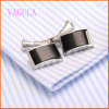 MenのためのVAGULA Rhdium Plated Agate Shirt Cufflink