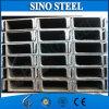 Profilo d'acciaio galvanizzato materiale strutturale standard di U75 JIS U