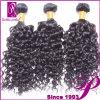 卸し売り巻き毛の波の純粋なインドのRemyのバージンの人間の毛髪のよこ糸