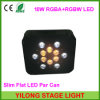 12PCS RGBA + RGBW Flat 4in1 Quad-Color LED PAR Can