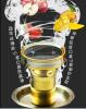 Tazón de fuente que fuma de cristal de la pipa de cristal de Pyrex que fuma que envía libremente