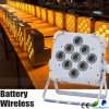 건전지 Wireless DMX 6in1 9*10W LED PAR Light