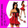 Traje sexy adulto vermelho de Halloween