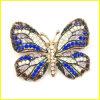 Brooch di Pin della farfalla della lega del metallo placcato oro di modo