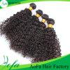 Weave 100% Curly do cabelo humano do Virgin da classe de qualidade superior 7A