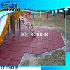 Azulejo al aire libre certificado En1177 del caucho del suelo del patio del CE
