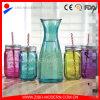 Glasflasche des Großhandelsbreiten Mund-1000ml mit Glasmaurer-Gläsern