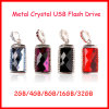 Movimentação de cristal do flash do USB da jóia da memória Flash da vara do USB de Pendrive