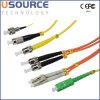 Corde de pièce rapportée optique d'intérieur et extérieure de fibre