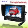 7inch 디지털 방식으로 쿼드 LCD 감시자