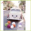 Papel de tejido POM Poms para la decoración del coche de la boda