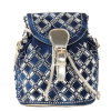 2015 mode Designer Denim Backpack avec Gold Buckle, Rhinestone Backpack Woman (HD26-0076)