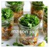 Choc de maçon pour la bouteille en verre de bouche large de salade colorée
