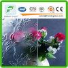 명확한 부유한 꽃 패턴 문 유리