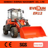 Everun Brand Agricultural Wheel Loader Er12 con Snow Bucket
