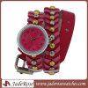Cuir de femmes de montre d'alliage de mode de montre de réseau de main de dames