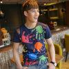 Cotton/Polyester faits sur commande Printed T-Shirt pour Men (M018)