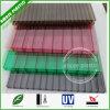 Folhas onduladas da cavidade do policarbonato do PC plástico favorável ao meio ambiente do telhado do material de construção