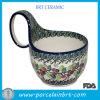 Taza de cerámica Shaped de la sopa de la cuchara grande antigua