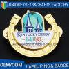 En alliage de zinc personnaliser l'insigne en métal avec gravé en relief avec le logo