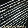 La traversa della casella di modo dell'argento sterlina 925 concatena il cavo della collana