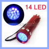 14 LED 395nm Black Light UVFlashlight Torch für Pet Dog Cat Urine Detector