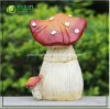 Decorative rouge Fungus Ornament pour le jardin Decoration (NF14117-4)