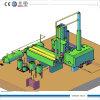 tipo novo da destilação do óleo 10ton de máquina usada da refinação de óleo