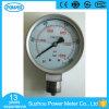 indicateur de pression d'acier inoxydable de 100mm avec la connexion de Monel