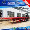 3 recipiente Flatbed de esqueleto Semi Trialer dos eixos 40feet